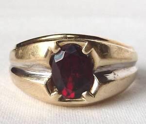 Mens Garnet Ring