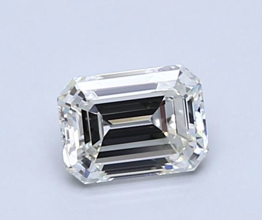 Diamond 0.46 CT Natural Loose Emerald Cut E Color VS2 Clarity GIA Certified 1