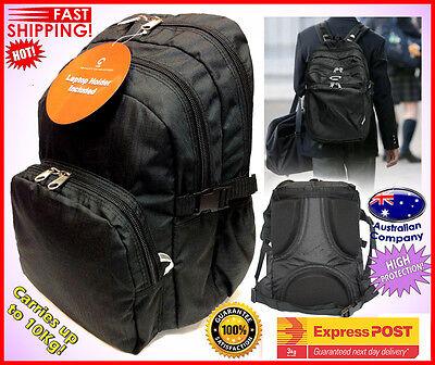 School Backpack High Protection High School Bag BEST Quality Black 3142