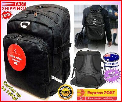 School Backpack High Protection High School Bag BEST Quality Black 3141
