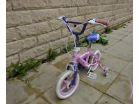Girls Bike With Removable Stabilisers