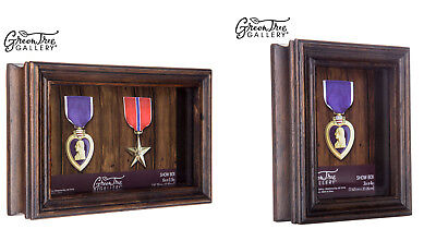 Military Law Enforcement Medal Display Shadow Box - Multiple Colors & Sizes