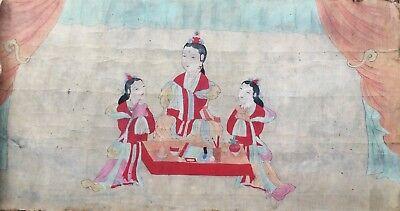 A Very Large/Rare Korean Painting (수양 공주-壽陽公主 세화도-歲畵圖-)-19th C.
