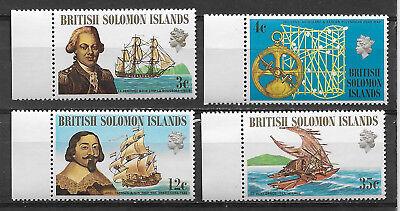 BRITISH SOLOMON ISLANDS , 1971 , FAMOUS EXPLORERS,  SET OF 4 , PERF , MNH