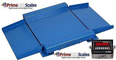 Optima Scale Op-921 2500 Lbs X .5 Lb Ultra Low Profile Drum Scale 36 X 36