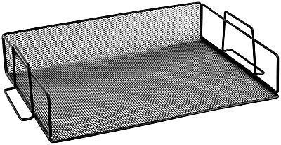 Steel Mesh Stackable (Ybmhome Black Steel Mesh Stackable Letter Paper Holder  Tray 2251vc  Sold Per 1 )