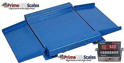 Optima Scale Op-921 10000 Lbs X 2 Lb Ultra Low Profile Drum Scale 36 X 36