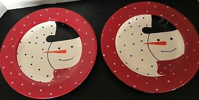 Halloween Desserts Cute (Nantucket 2 Happy snowmen dessert plates 51/2 Super)