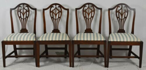 Set of 4 English George III Mahogany Dining Chairs