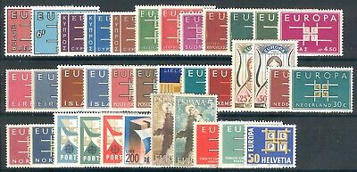 1963 EUROPA CEPT complete year set MNH