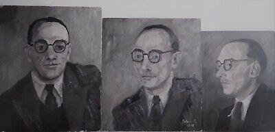 """""""Ensemble de 3 portraits de Jean-Baptiste Scoriel"""""""