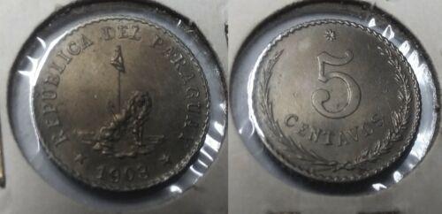 PARAGUAY 1903 5 Centavos -Nice
