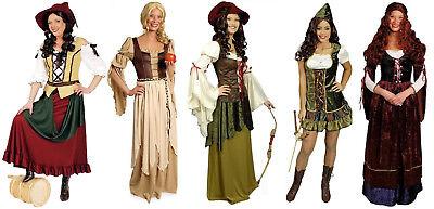 Wirtin Burg Robin Hood Kostüm Kleid Burgdame Freifrau Rokoko (Bäuerin Kostüm)
