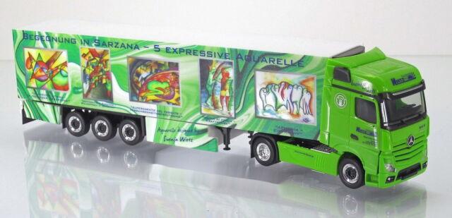 """Herpa LKW 304276 Mercedes-Benz Actros Gigaspace Kühlkoffer-SZ """"Wirtz Art Truck """""""