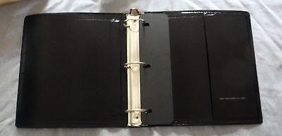 Vtg 2 New York Loose Leaf Corp Black Flexible 3 Ring Binders 11 X 8.5 2 Gsa