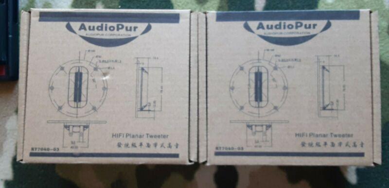 PAIR 8Ohm 8Ω 15W rms 30W max Audiopur Planar Ribbon Tweeter