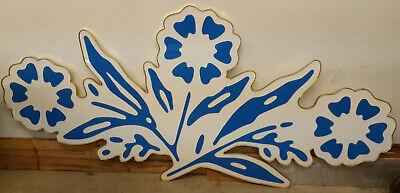 Corning Ware Cornflower Backlit Advertising Sign HUGE!! Vintage Blue Logo Emblem