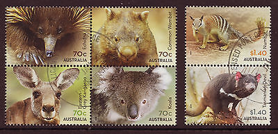 AUSTRALIA 2015 NATIVE ANIMALS SET OF 6 FINE USED