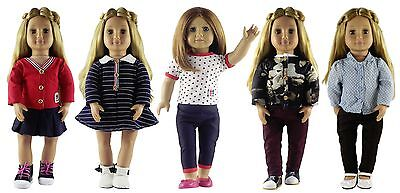 5 set Doll Clothes for 18'' American Girl Doll Princess Dress Casual Clothing