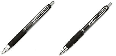 Uni-ball Signo 207 Retractable Gel Pen 0.7mm Medium Point Black 2 Piece