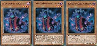 YUGIOH 3 X THE PHANTOM KNIGHTS OF ANCIENT CLOAK - LEHD-ENC01   1ST EDITION