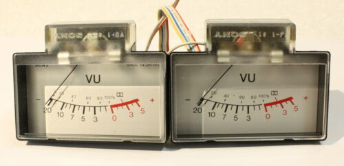 SONY TC-K4A Pair Of Working VU Meters-Vintage Cassette Deck