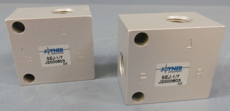 Lot of 2 Joyner SEJ-1/7 Valve Pneumatic Quick Exhaust