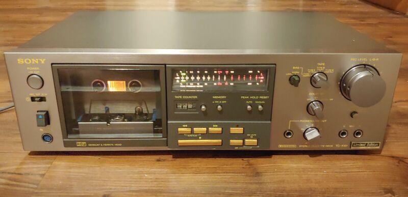 Sony Limited Edition TC-K61 Cassette Deck *RARE*