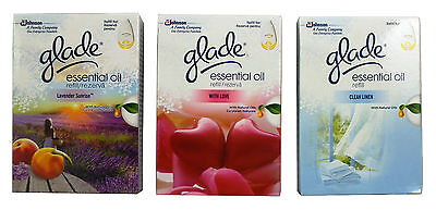 3 Glade Essential Oil Refill With Love Clean Linen Sunrise Choose Fragrance