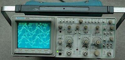 Tektronix 2232 100mhz Analogdigital Oscilloscope Calibrated Two Probes