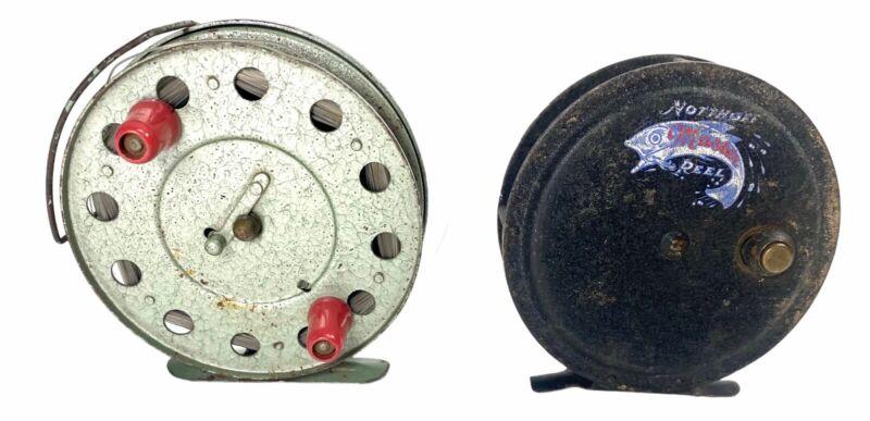 2 Vintage Fly Fishing Reels Northoff Master