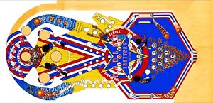 Bally Harlem Globetrotters Pinball Machine Playfield Overlay  Clear Inserts