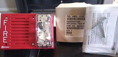 Simplex 4903-9254 Horn Strobe Fire Alarm Horizontal Mount 110cd Red