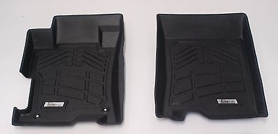 - 2-Piece Black Front Floor Liners that fit 2008 - 2012 Honda Accord Sedan/Coupe