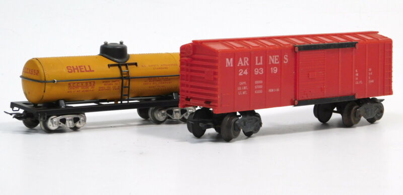 USED Marx Mar Lines Operating Boxcar 249319 and Shell Tanker S.C.C.X. 652