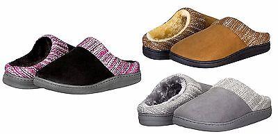Womens Cozy Fleece House Slippers Slip On Super Comfort 3 Color