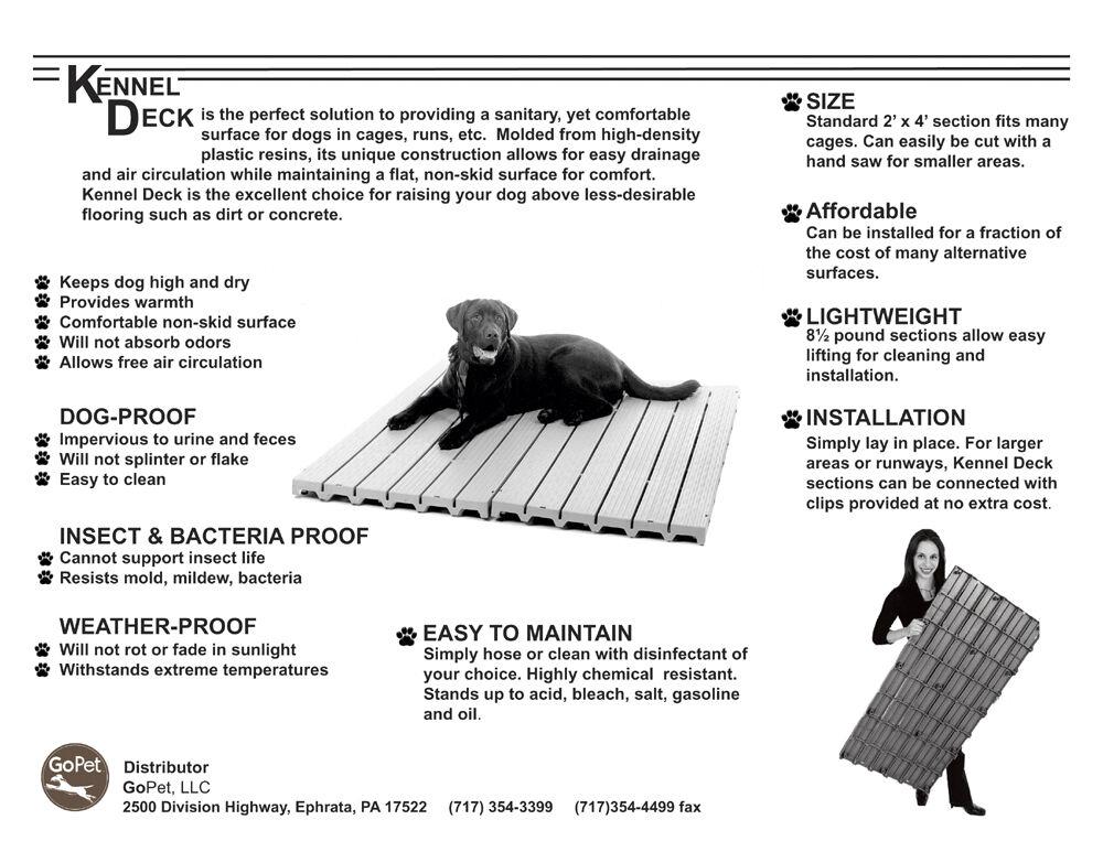 Deck Dog Kennel Plastic Outdoor Pen Floor Kd 100 35 75 Each