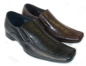 NEW-MENS-LEATHER-DRESS-CASUAL-LOAFERS-SLIP-ON-SHOES-FREE-SHOE-HORN-2-COLORS
