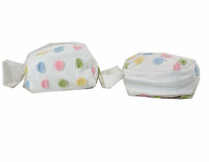 Lot-of-2-Baby-Pacifier-Holders-Pouch-Velcro-Handle