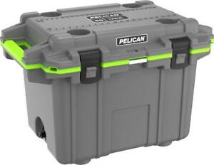 NEW Pelican Elite 50 Quart Cooler (Dark Grey/Green) Condition: New
