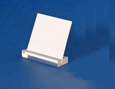 3 x Acryl Schilderhalter Preisaufsteller 50 mm - Für Schaufenster & Vitrinen