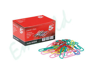100-Assorted-Paper-Clips-33mm-Steel-With-Box-Same-Day-Dispatch