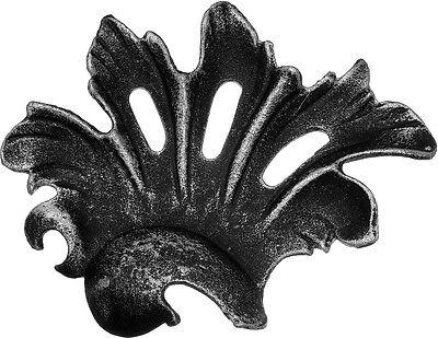 Blatt Zierblatt Zaunelement Schmiedeeisen Zierelement Zaun 011 100x70x4 mm