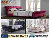 Chesterfield Sleigh Bed DO
