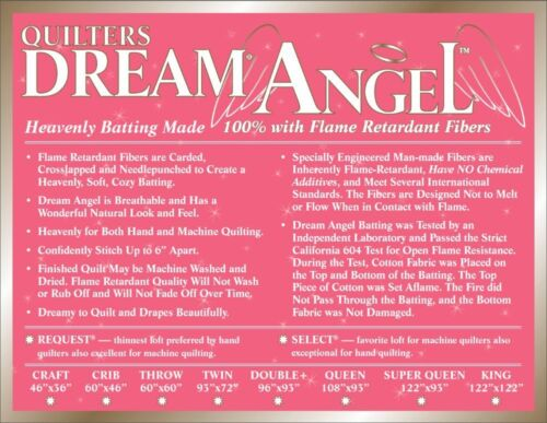 Quilters Dream Angel Select Mid Loft Batting Twin Size