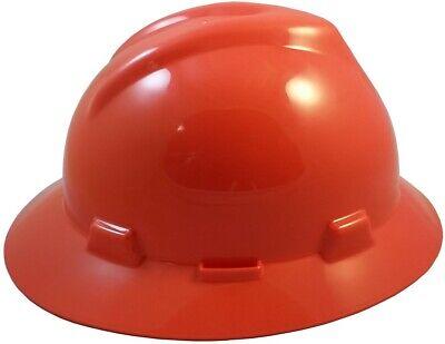 Msa V-gard Full Brim Hard Hat With Fas-trac Suspension - Orange