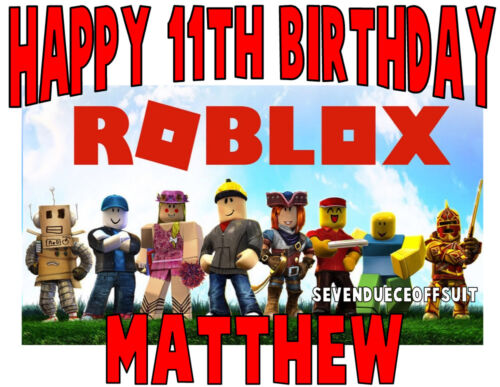 CUSTOM ROBLOX T SHIRT ADD NAME AND AGE BIRTHDAY GIFT PARTY GAME