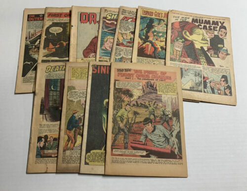 LOT OF 11 SCI-FI HORROR & SUSPENSE COVERLESS COMICS HOUSE OF MYSTERY + MORE!
