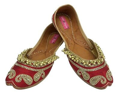 - US DESIGNER SHOES INDIAN ETHNIC WEAR DANCE BALLEY PUNJABI JUTTI FLAT KHUSA DD958
