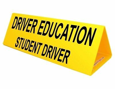 Student Driver Car Top Sign 30x10 Inch Corrugated With Powerful Magnets